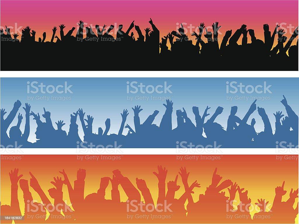 Crowds vector art illustration