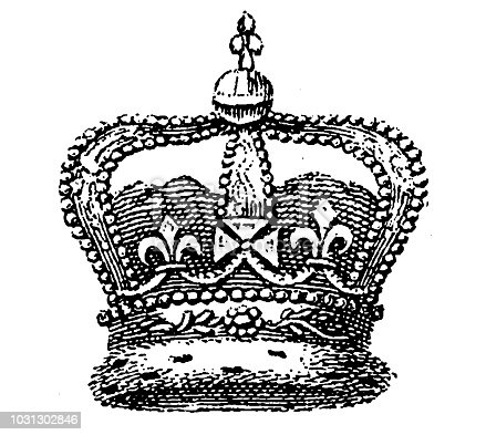 Illustration of a Crown of England