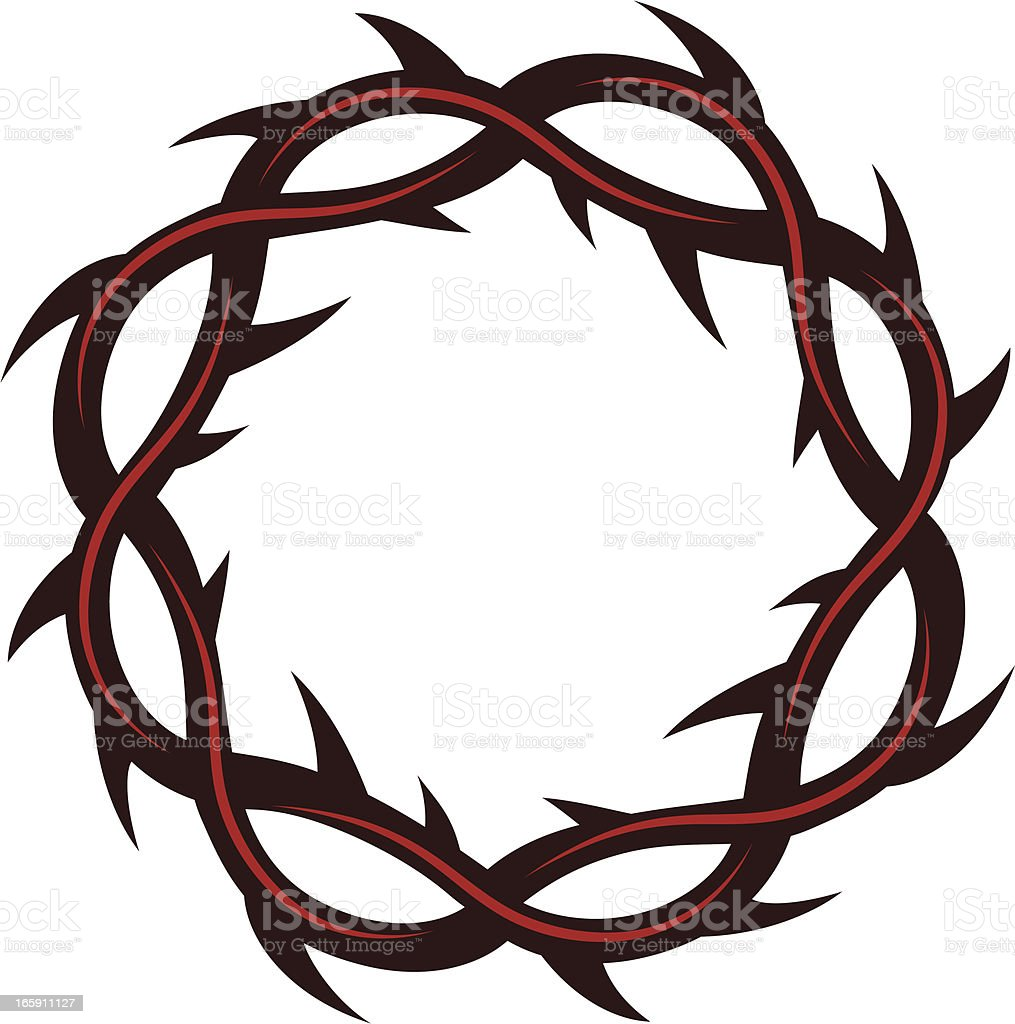 crown of thorns stock vector art more images of christianity rh istockphoto com jesus crown of thorns clipart jesus crown of thorns clipart