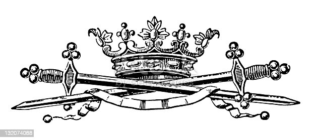crown With Swords crossed