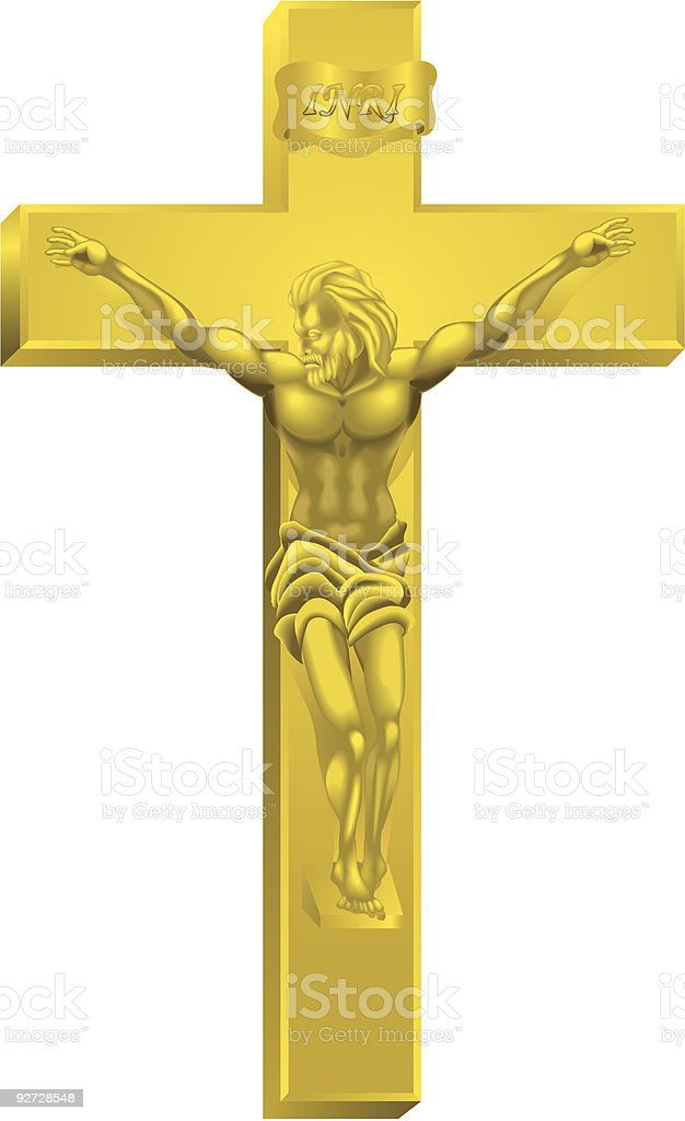 crucifix royalty-free stock vector art