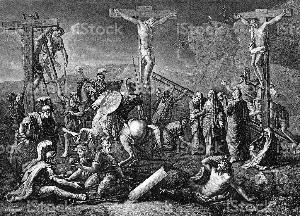 Crucifixion vector art illustration
