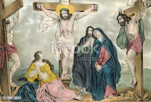 istock Crucifixion of Jesus Christ 1249513834