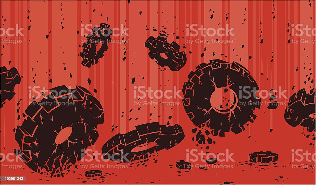 Crumbling gears royalty-free crumbling gears stock vector art & more images of breaking