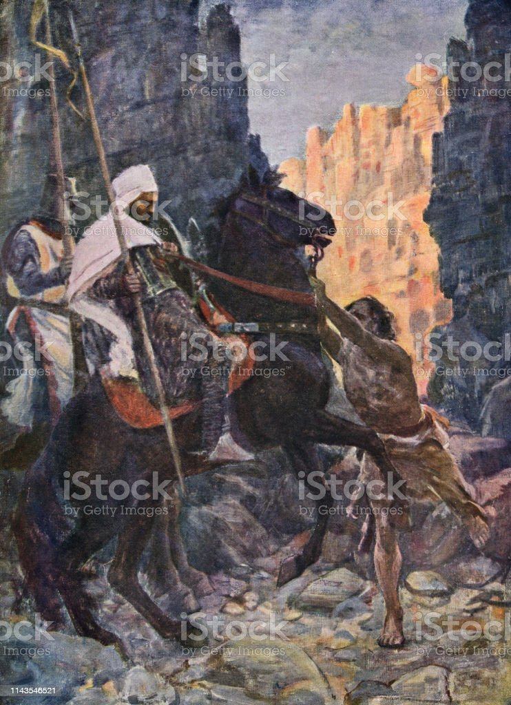 十字軍の騎士とムーアのエミール12 世紀 - 12世紀頃のベクターアート ...