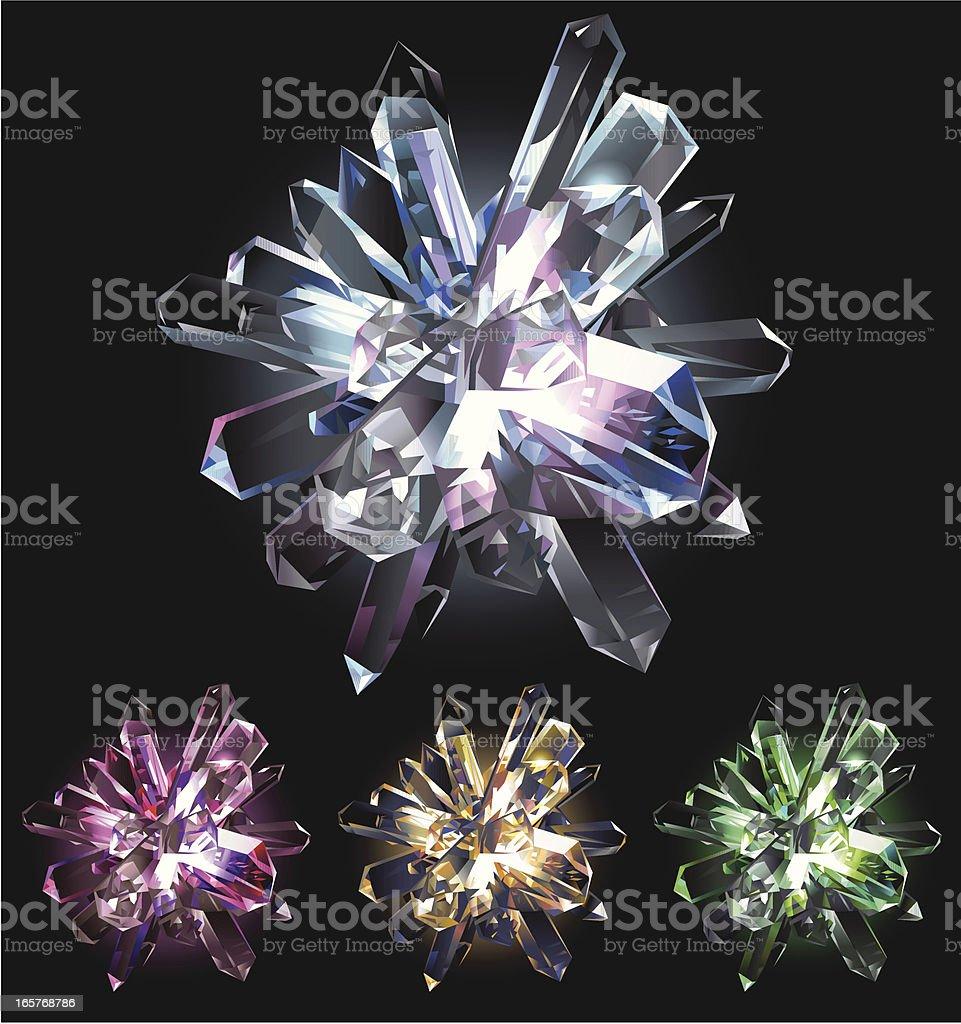 Crystal Star vector art illustration
