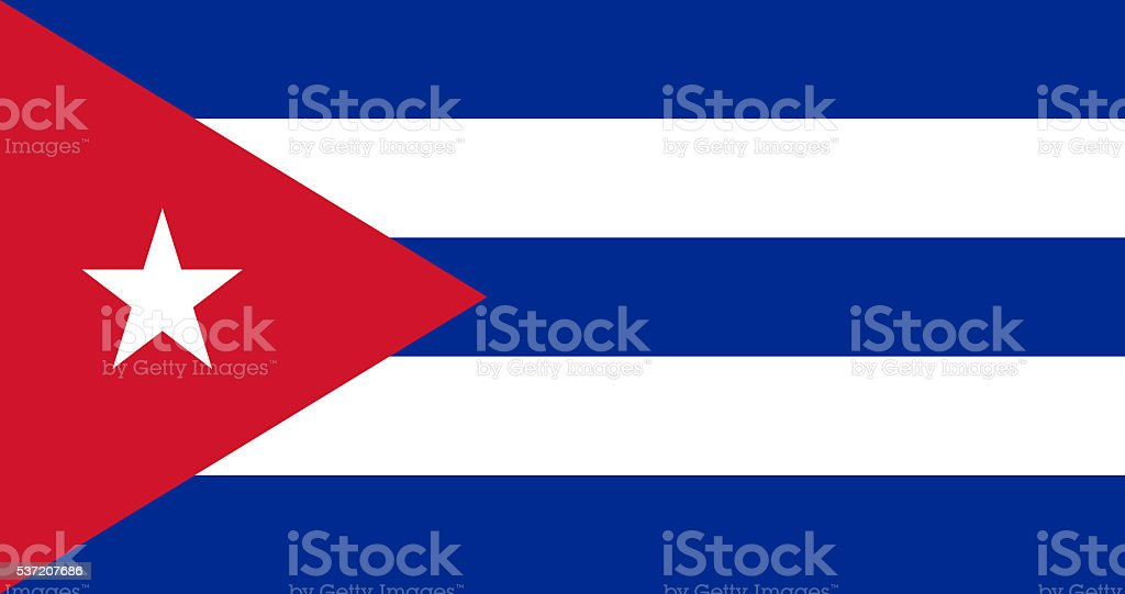 Cuba flag vector art illustration