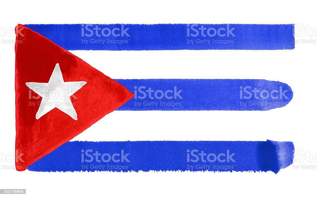 Cuba bandera ilustración - ilustración de arte vectorial