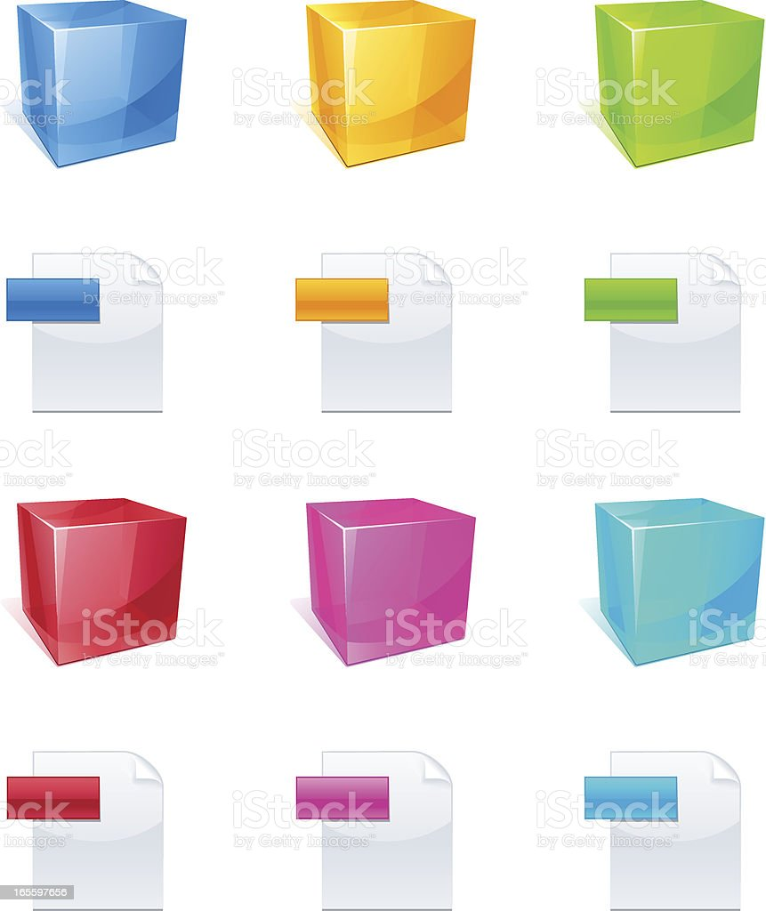 Cube - Application icon royalty-free cube application icon stock vector art & more images of abstract