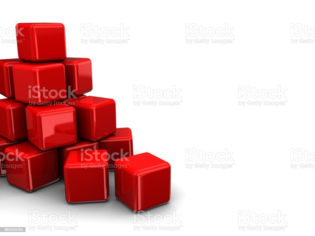 cubes heap royalty-free cubes heap stock vector art & more images of abstract