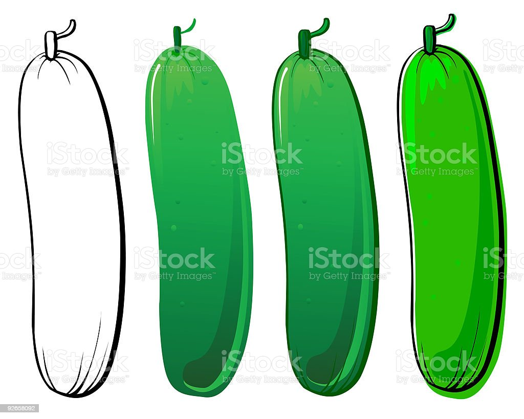 Cucumber royalty-free cucumber stock vector art & more images of collection