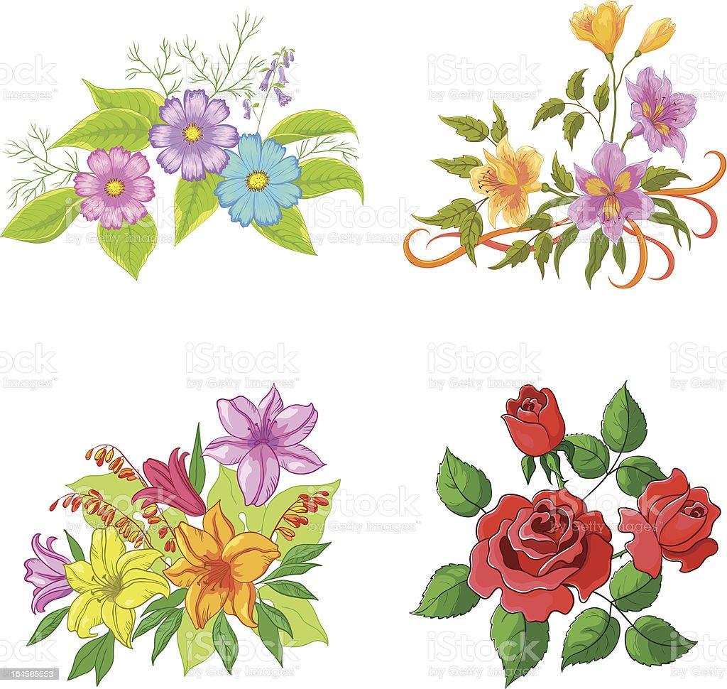 Cultivado flores, conjunto - ilustración de arte vectorial