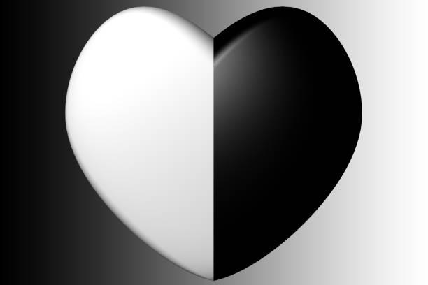 Immagine Cuore Bianco E Nero