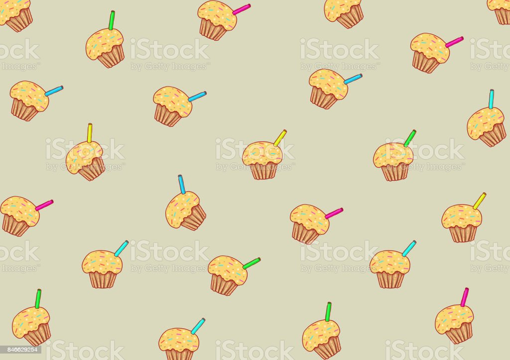 cup cake vector art illustration