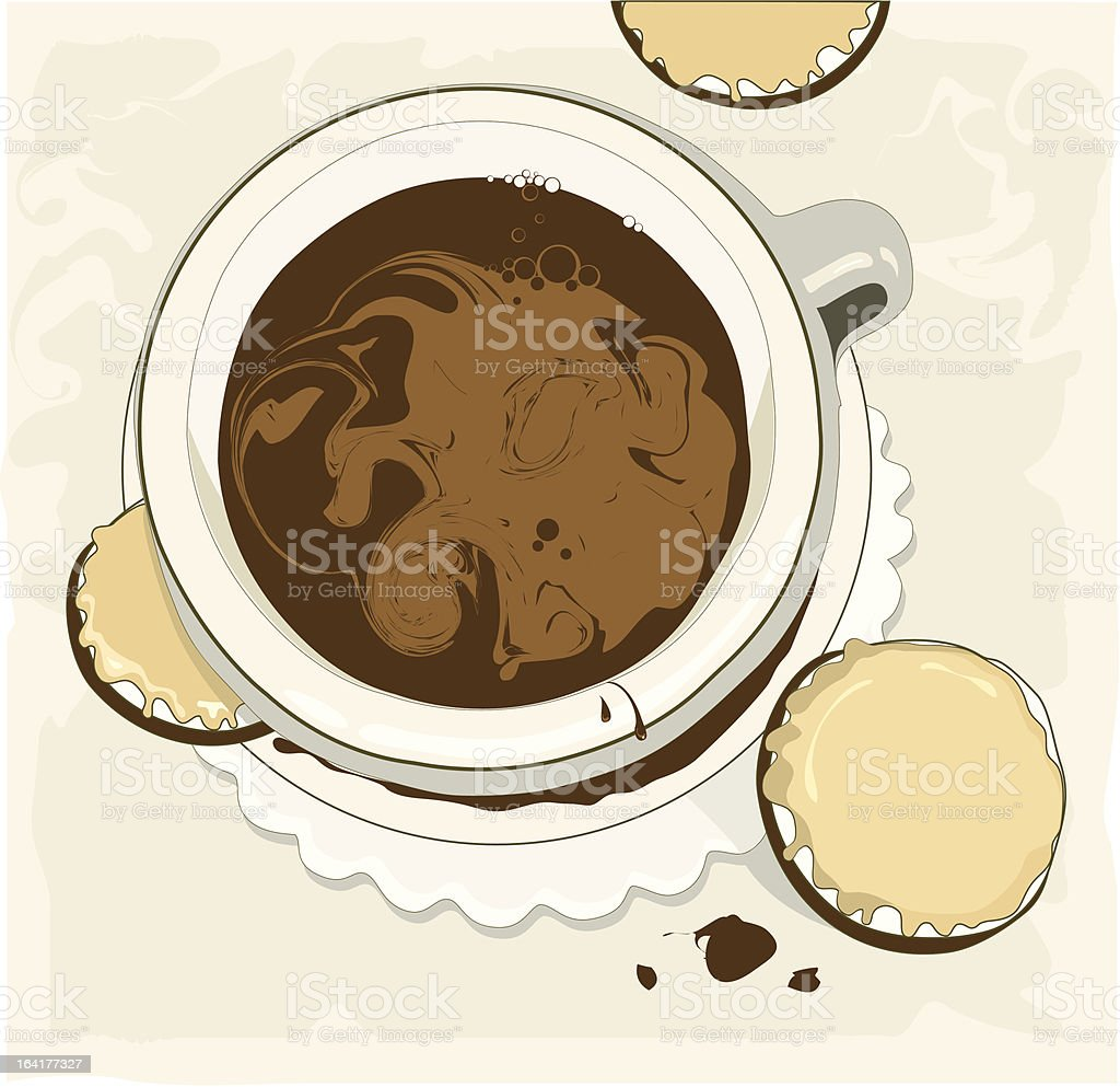 Cup of coffee and cookies royalty-free cup of coffee and cookies stock vector art & more images of breakfast