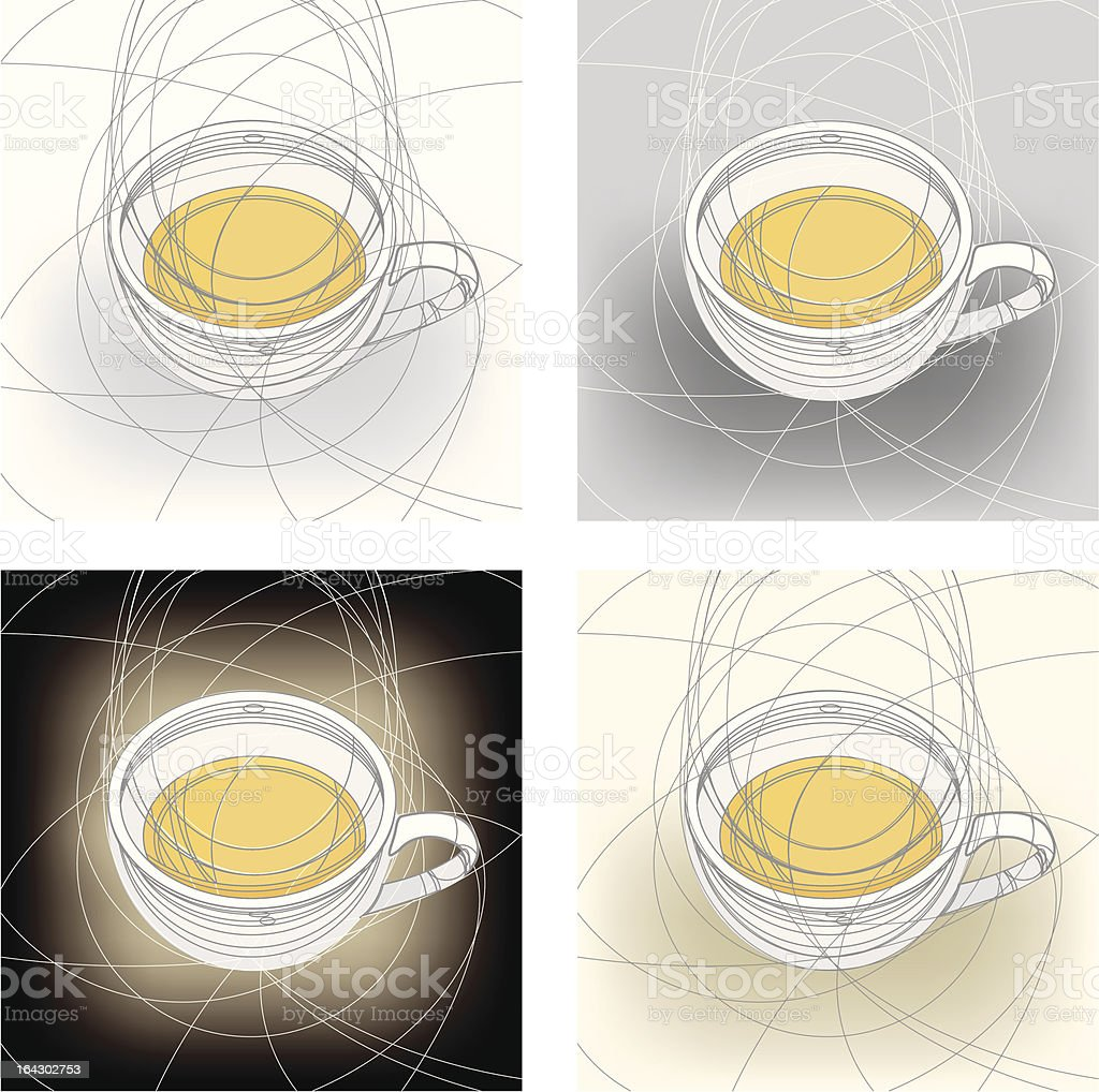 cup of tea royalty-free stock vector art