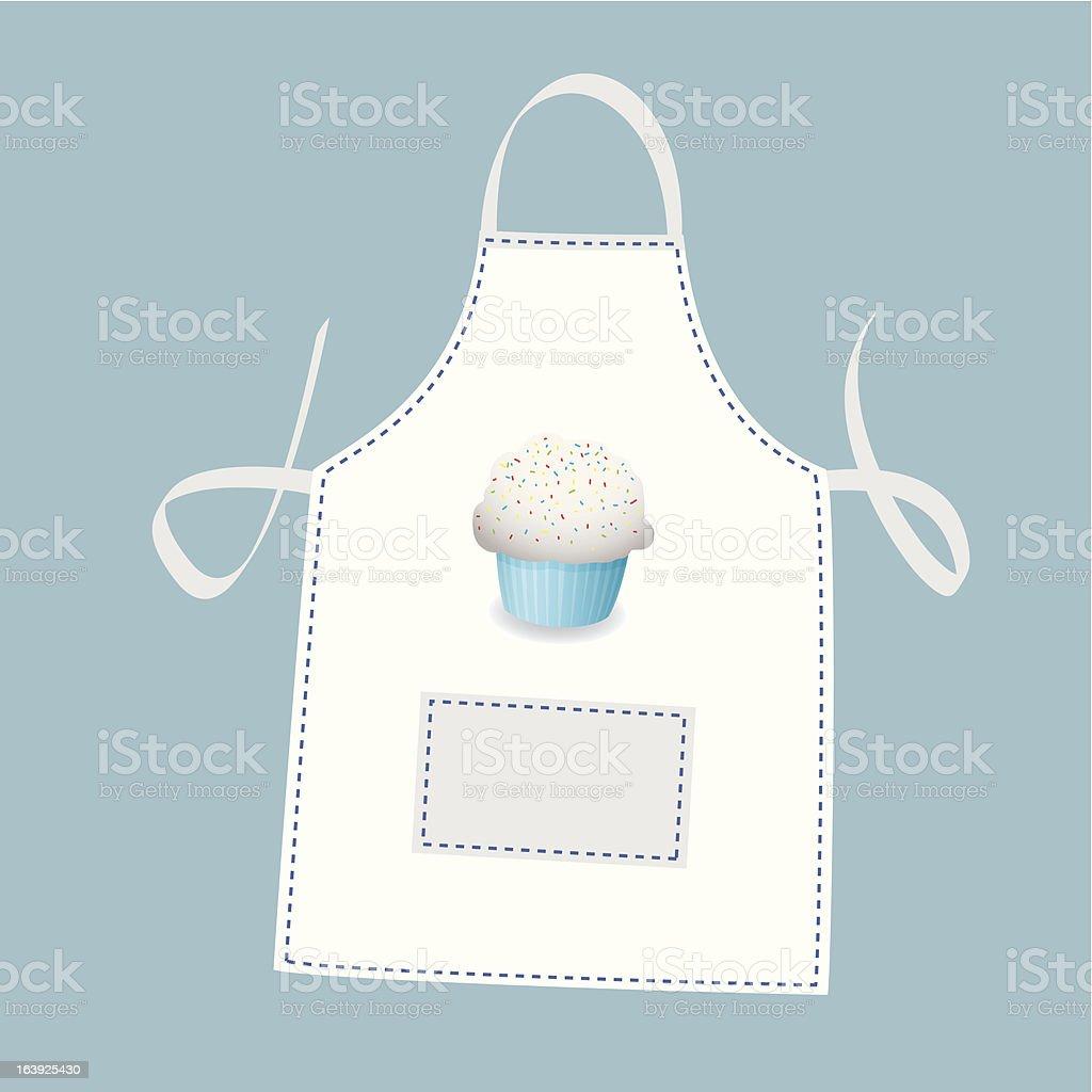 Cupcake apron royalty-free stock vector art