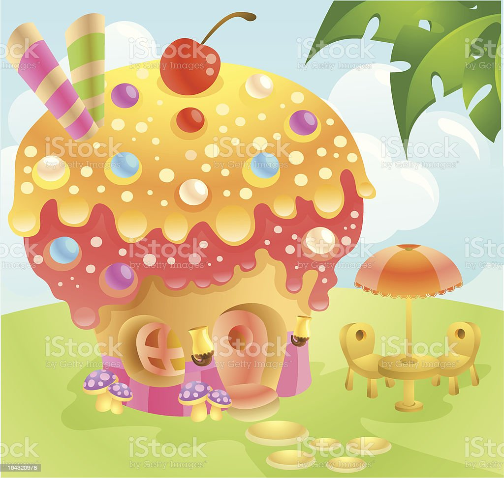cupcake house royalty-free cupcake house stock vector art & more images of backgrounds