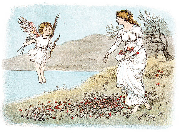 Romantic style stock illustrations
