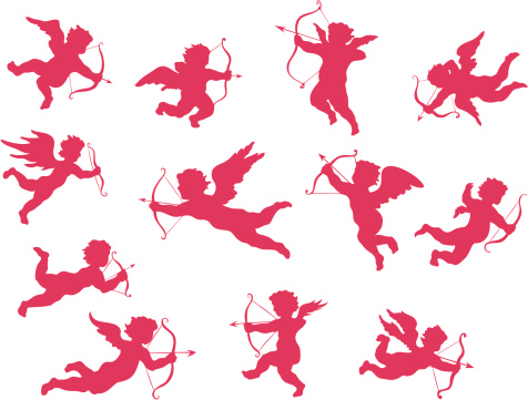 Cupid silhouettes
