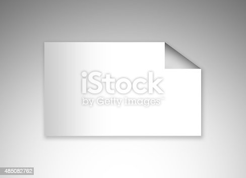 istock Curled Up Empty Businesscard 485082762