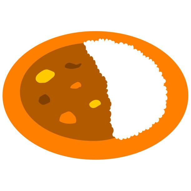 カレーとライス - カレー点のイラスト素材/クリップアート素材/マンガ素材/アイコン素材