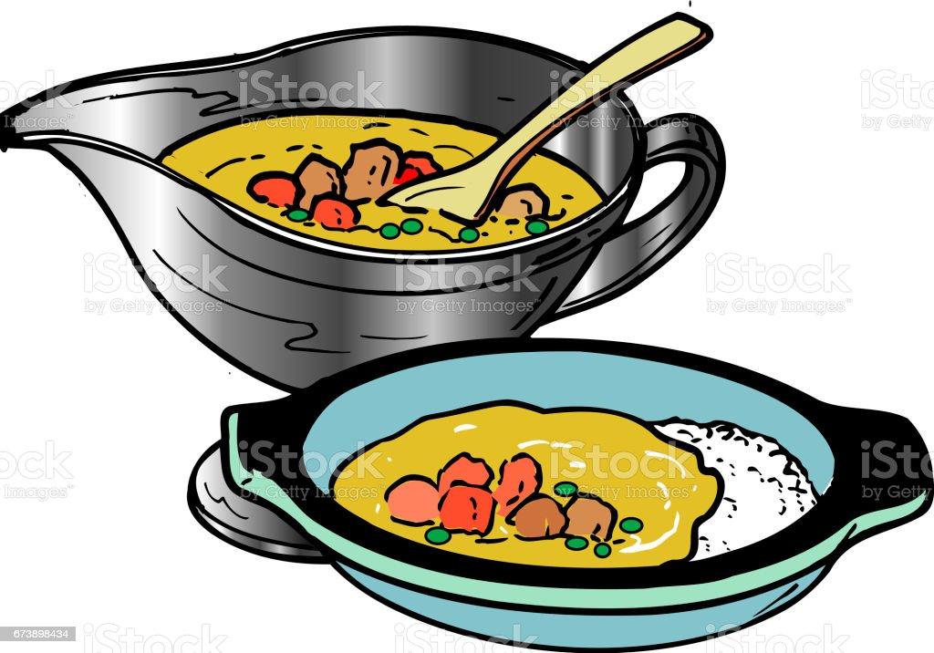 Curry de riz curry de riz – cliparts vectoriels et plus d'images de aliment libre de droits