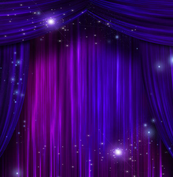stockillustraties, clipart, cartoons en iconen met curtains with sparkle - photography curtains