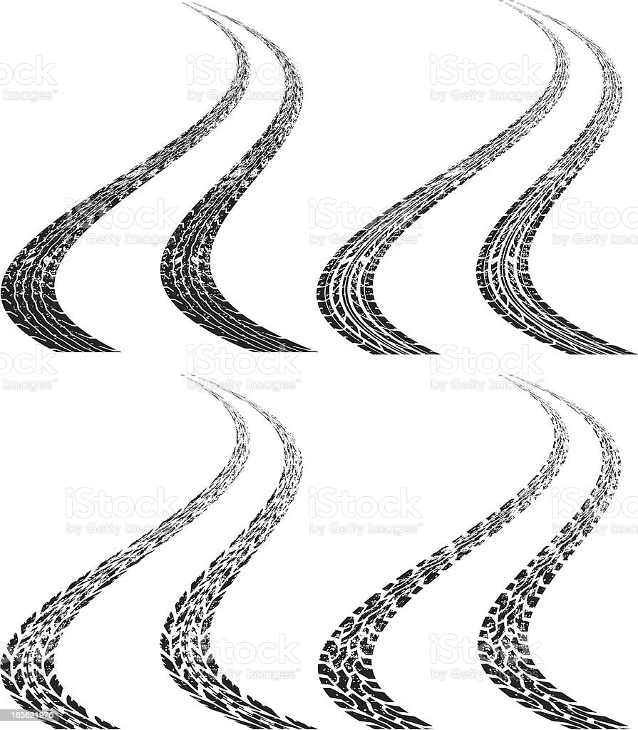 curvy dirt treads royalty-free curvy dirt treads stock vector art & more images of competition