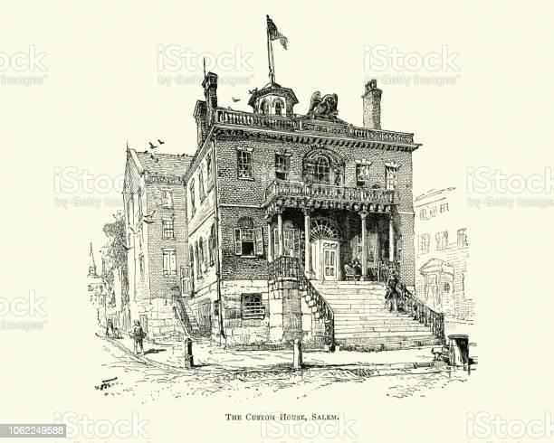 Vetores De Custom House Salem Massachusetts Seculo Xix E Mais Imagens De 1890 1899 Istock