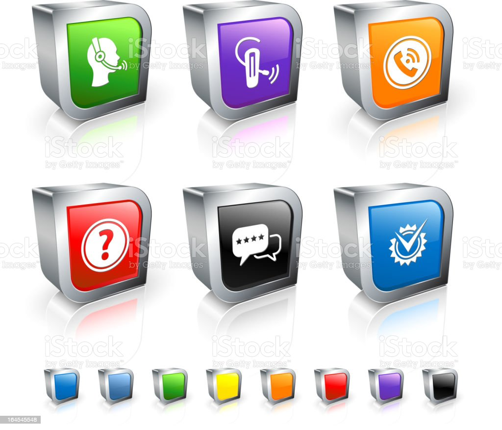 customer service 3D royalty free vector icon set royalty-free stock vector art