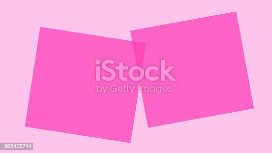 Customize To Mimic Paper Square Has Space To Write Stock Vector Art & More Images of Abstract 965405744