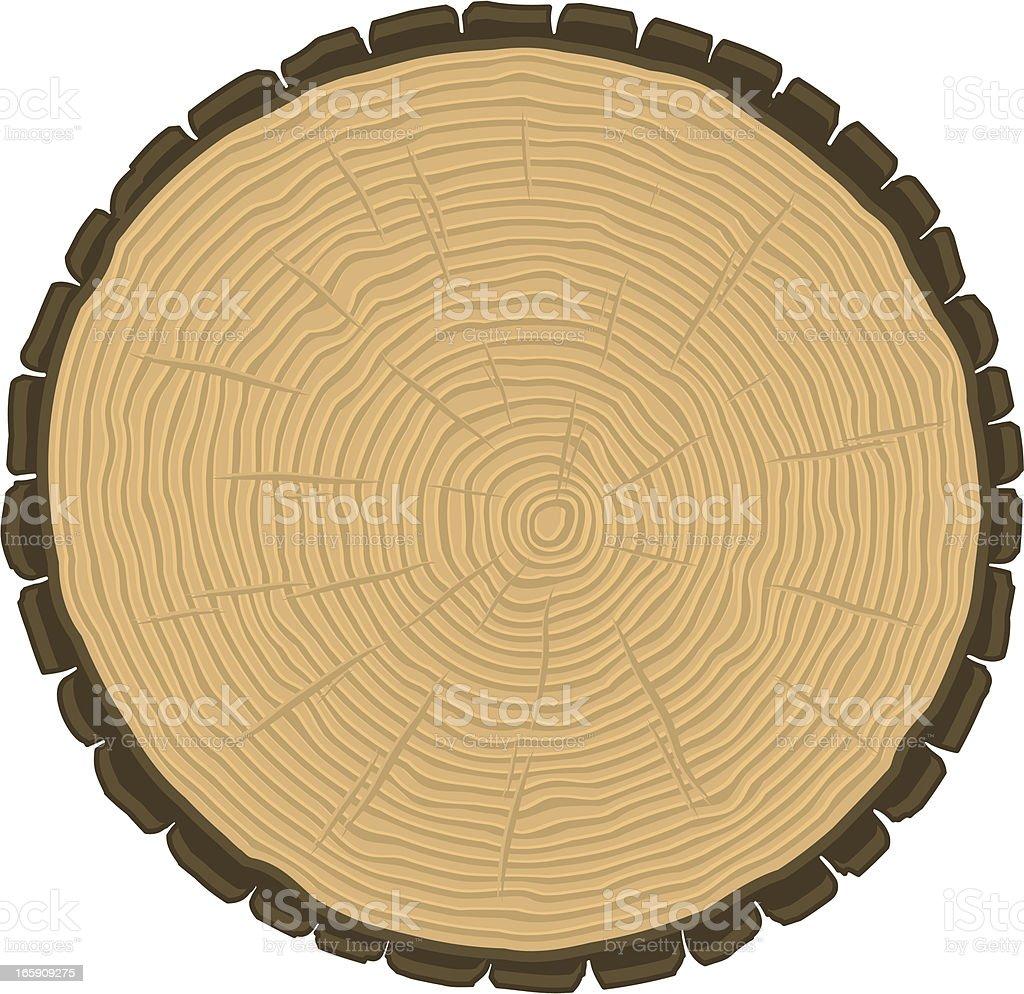 cut log royalty-free stock vector art