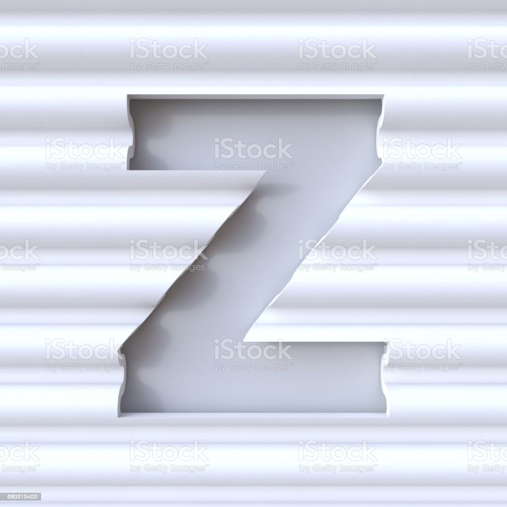 Cut Out Font In Wave Surface Letter Z 3d Stock Illustration - Download  Image Now