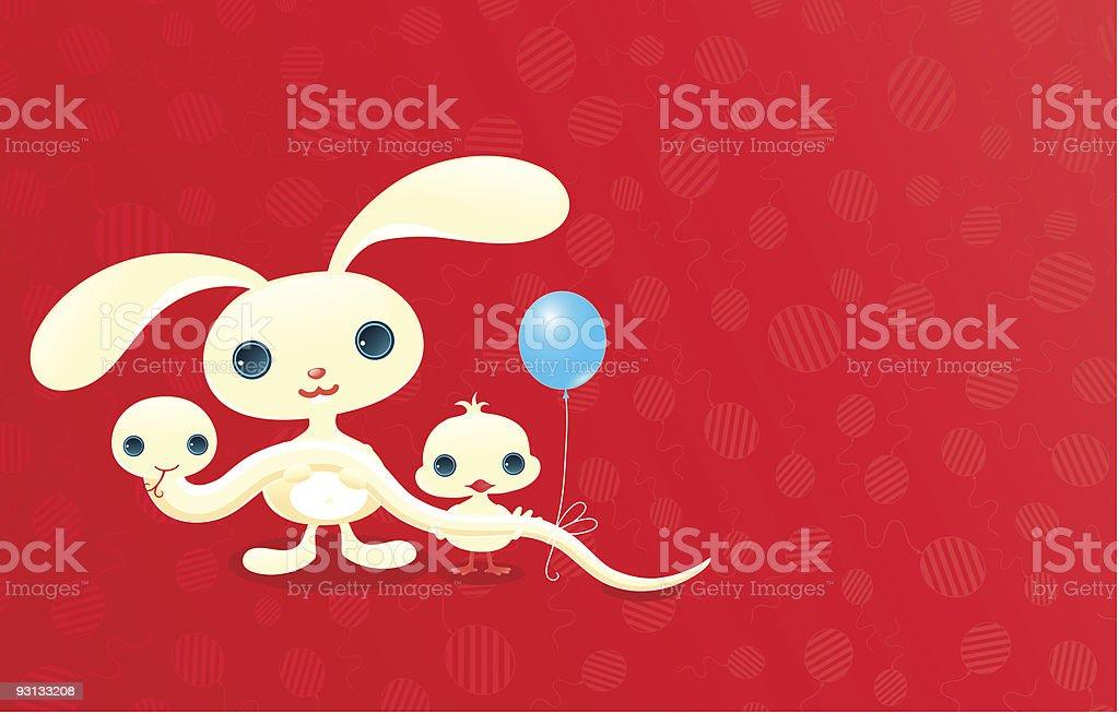 Cute baby animals. royalty-free stock vector art