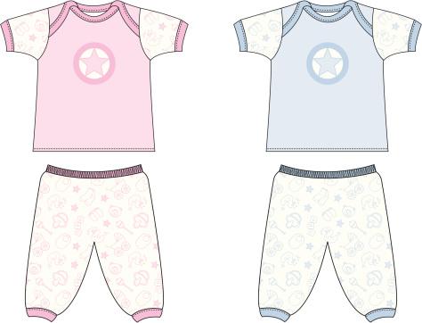 Cute Baby Icon Pyjamas/Sleep Set