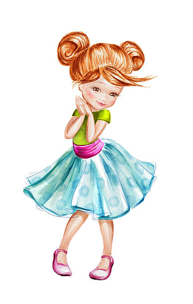 Best Shy Girl Illustrations, Royalty-Free Vector Graphics ...
