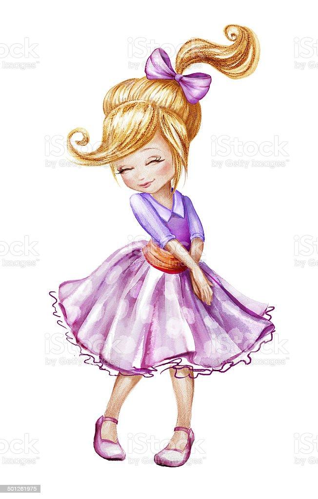 cute beautiful shy little girl stock vector art amp more