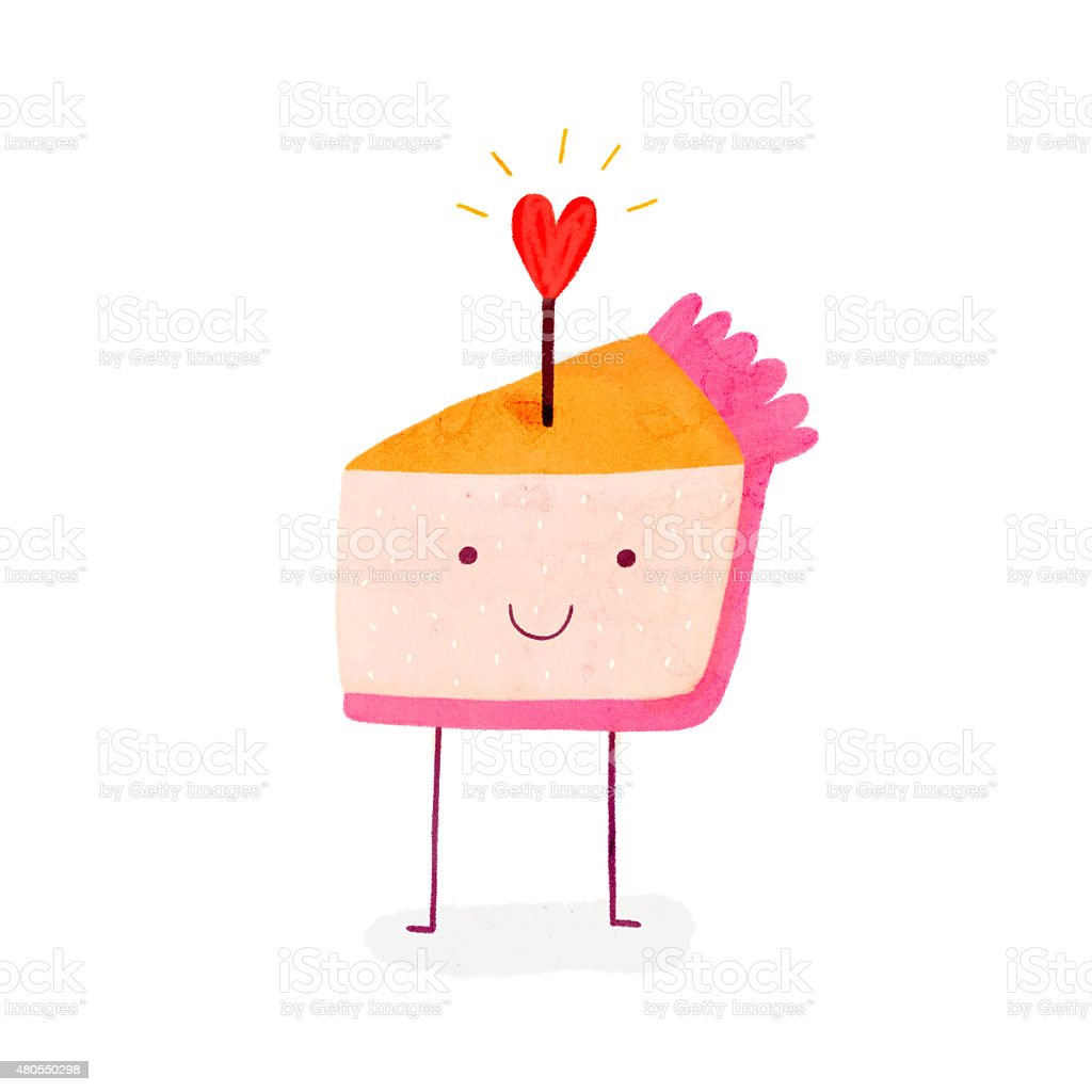 Amazing Cute Birthday Cake With Shiny Heart Stock Illustration Download Funny Birthday Cards Online Eattedamsfinfo