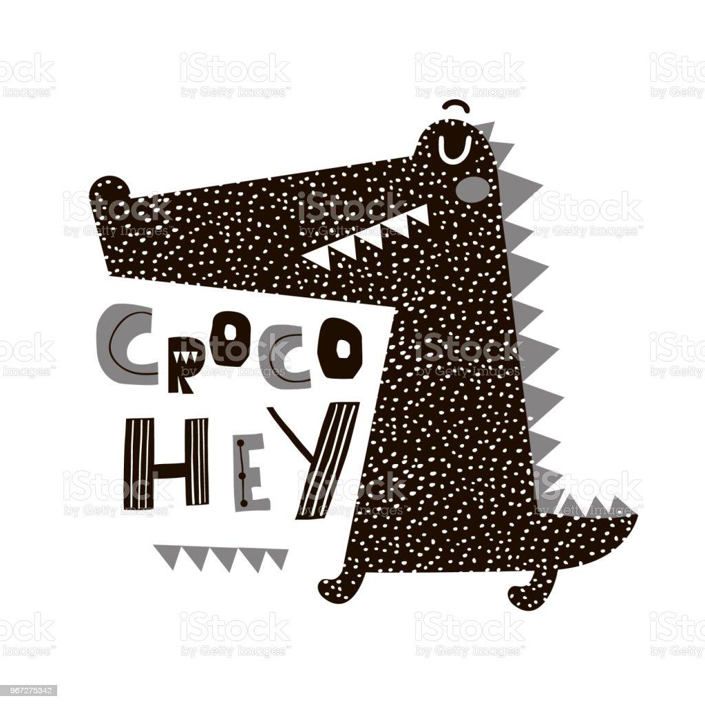 Vetores De Crocodilo De Bonito Dos Desenhos Animados De