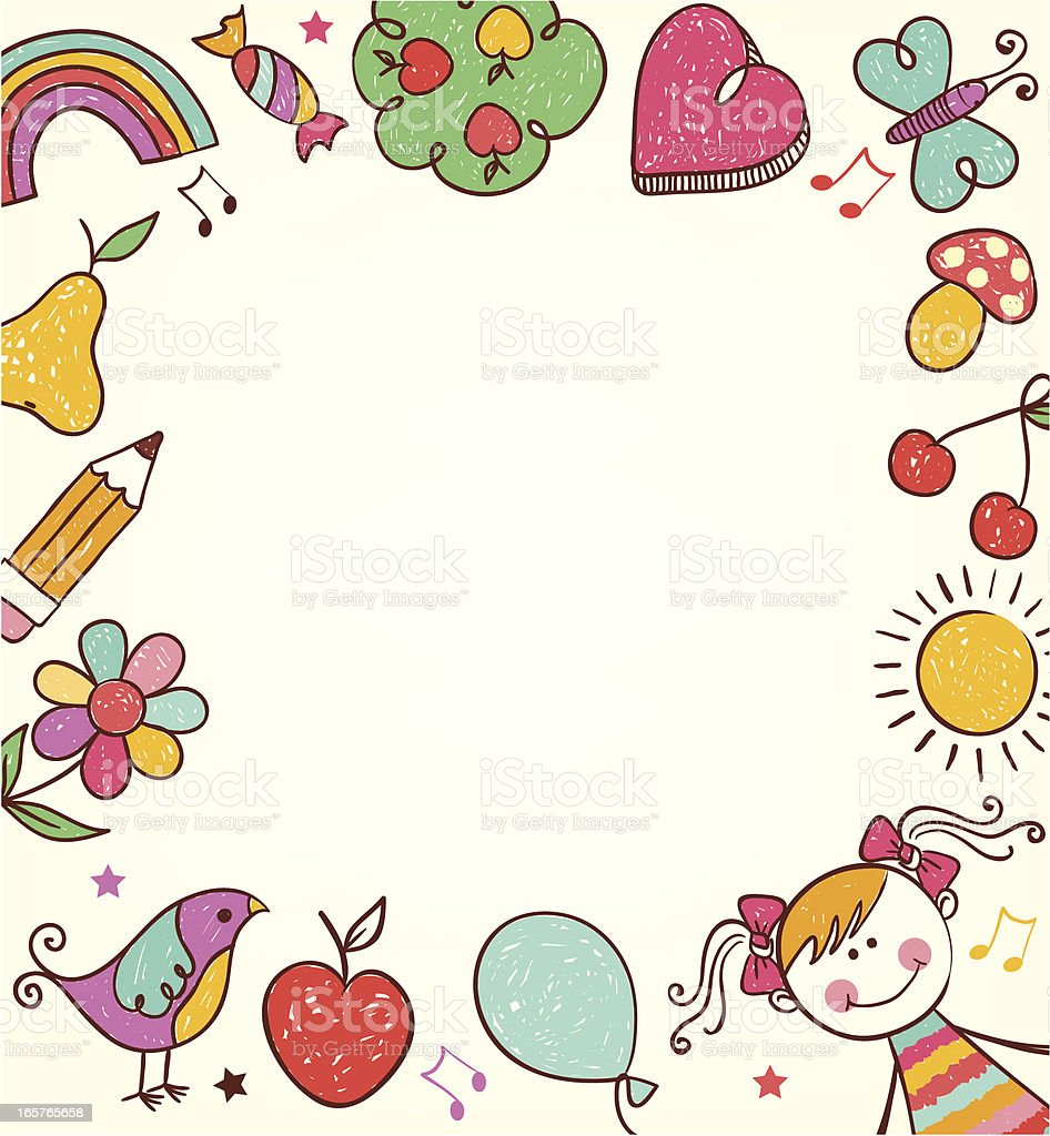 cute cartoon kids frame stock vector art 165765658 istock