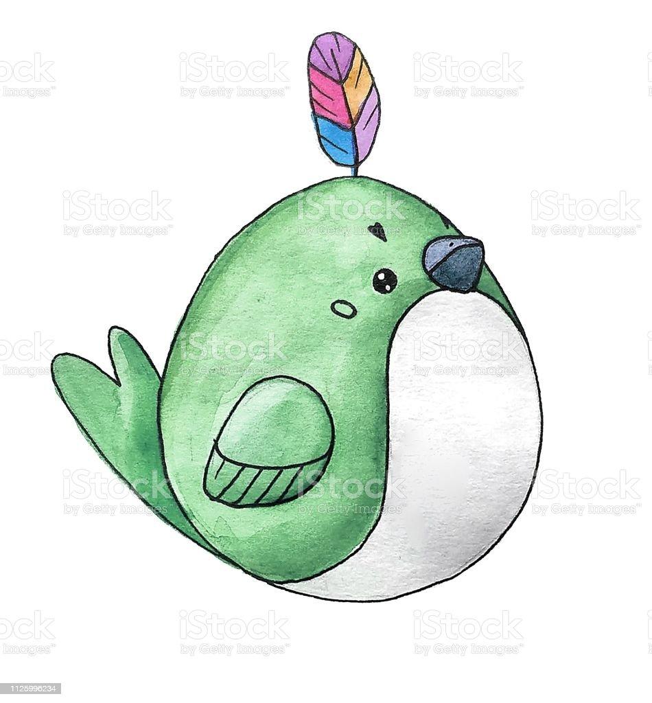 Vetores De Aquarela De Bonito Dos Desenhos Animados Da