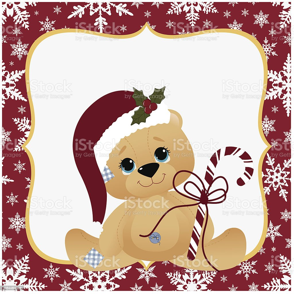 Cute Christmas Postcard Template Stock Vector Art More Images Of - Christmas postcard template