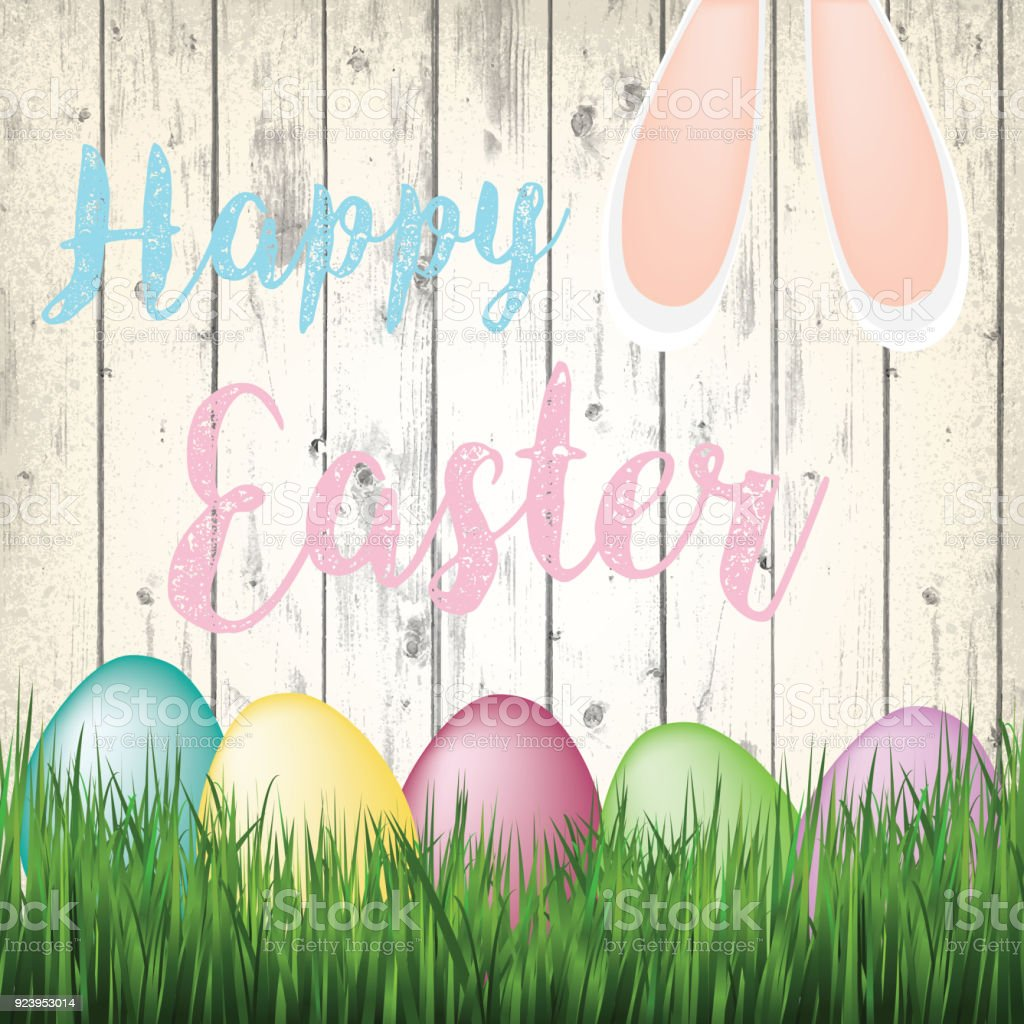 Cute colorful easter greeting card illustration stock vector art cute colorful easter greeting card illustration royalty free cute colorful easter greeting card illustration stock m4hsunfo