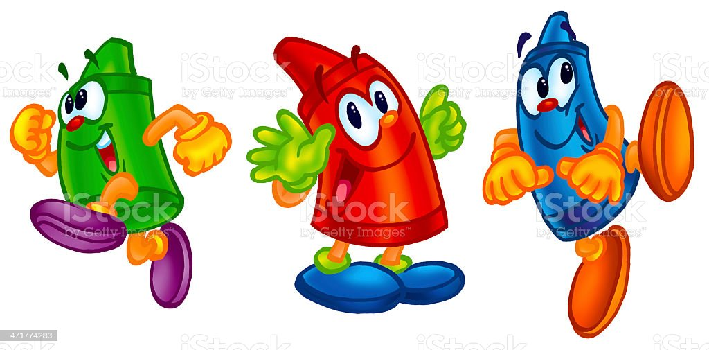 cute crayons royalty free stock vector art - Cartoon Pictures Of Crayons