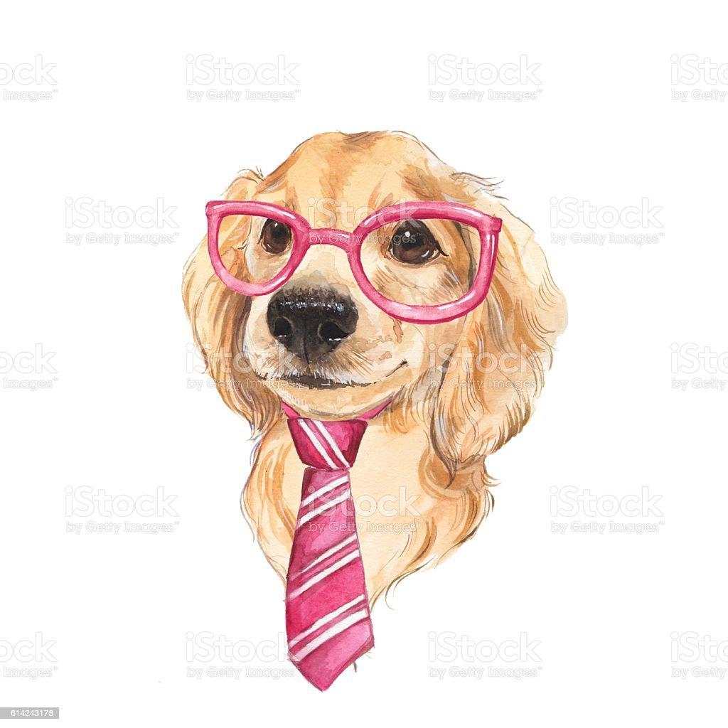 Textured Labrador Dog Square Tie Clip