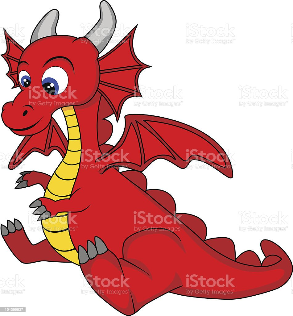 cute dragon stock vector art more images of animal 164399837 istock rh istockphoto com  dragonfly cute clipart
