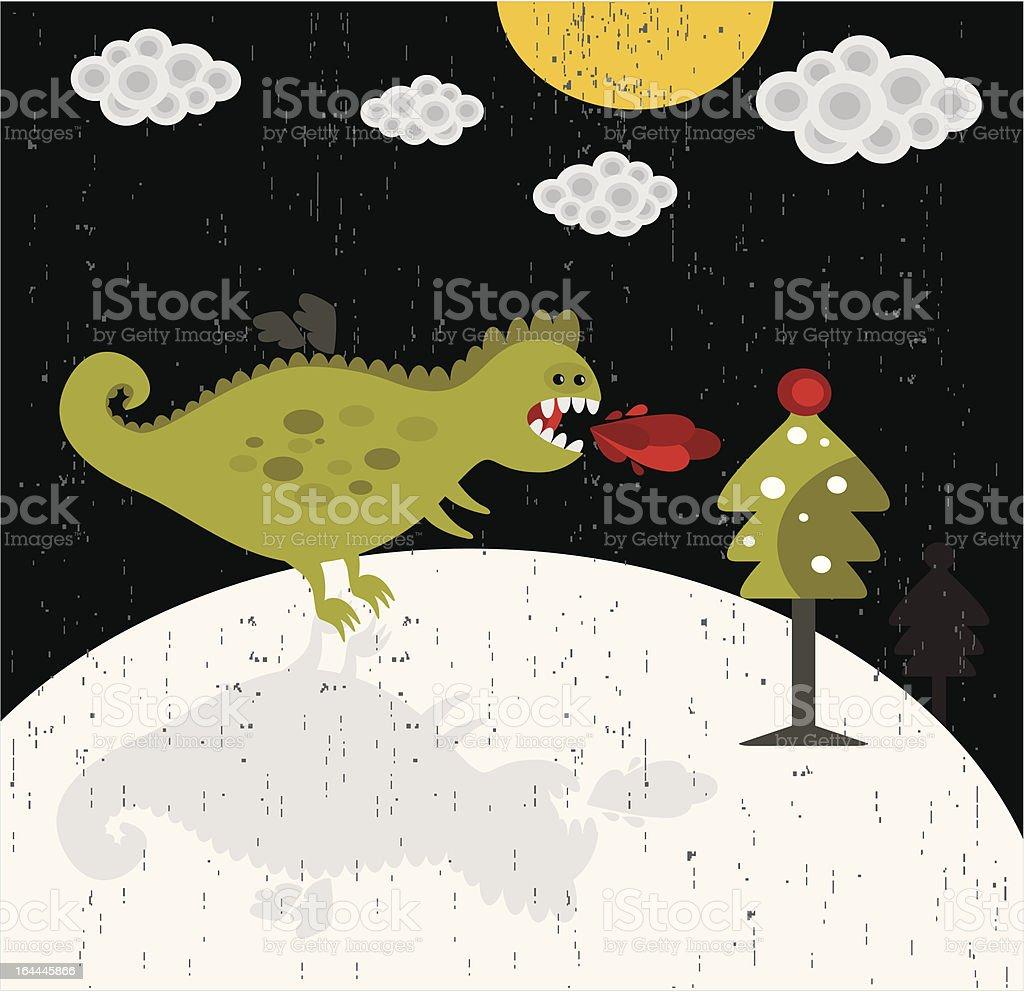 Cute dragon new year illustration. royalty-free stock vector art
