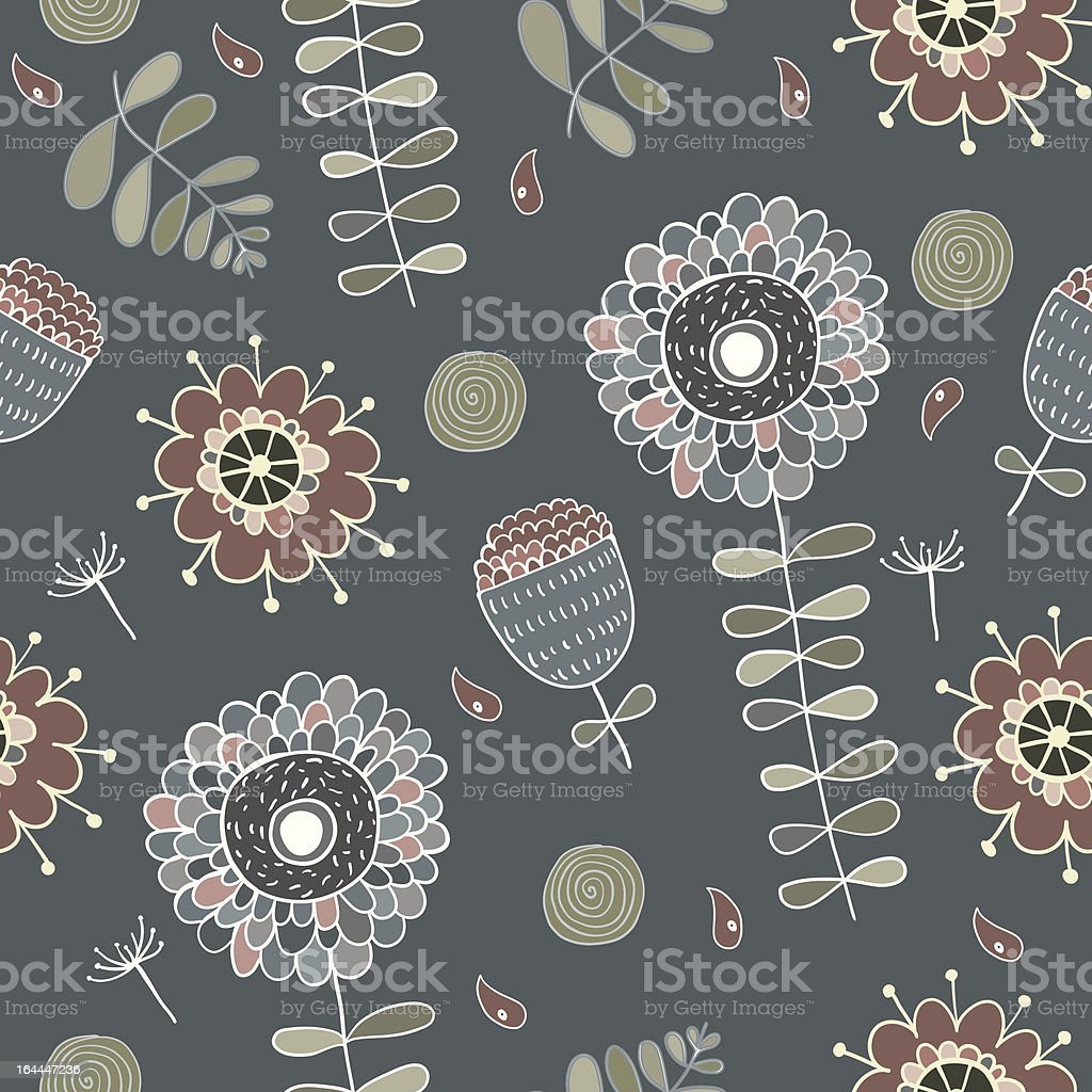 cute floral seamless royalty-free stock vector art