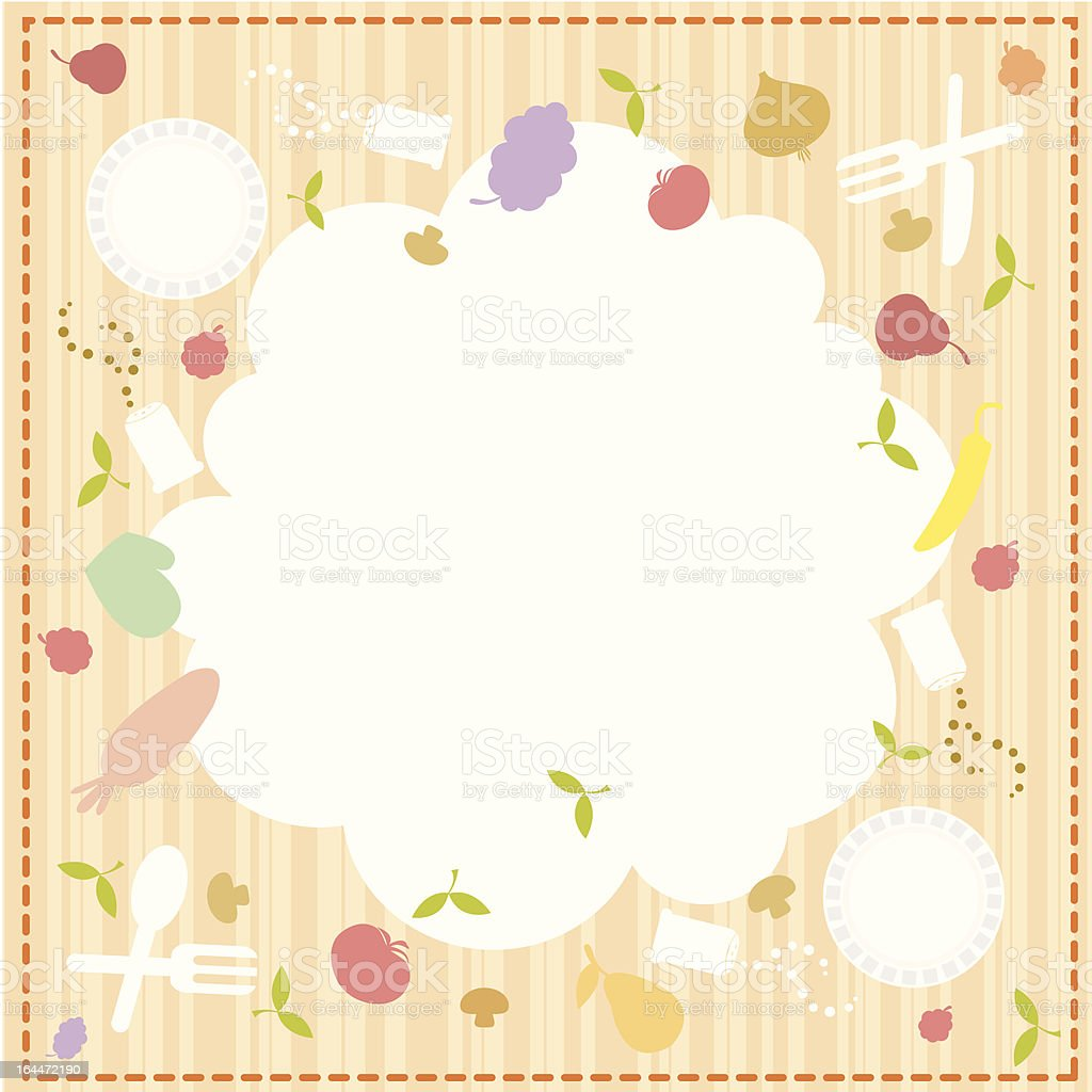 Cute Food Background And Message Royalty Free Stock Vector Art
